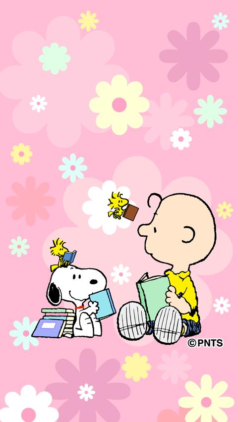 お花とスヌーピー